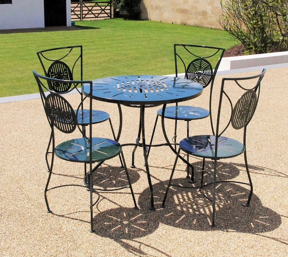 Metal garden furniture sets weather resistant chris bose Metal garden furniture sets