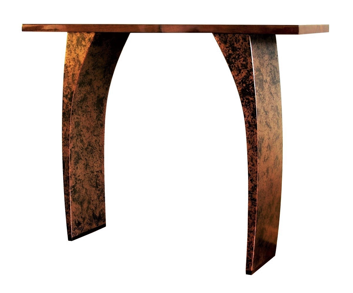Very Impressive portraiture of Modern console tables with beautiful metal finishes Chris Bose with #A14B2A color and 1200x995 pixels