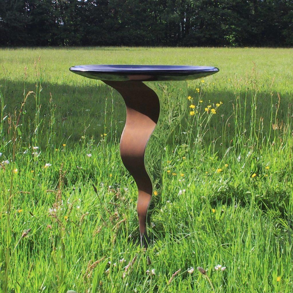 Metal Garden Bird Bath Contemporary Garden Sculpture