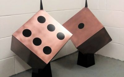 dice garden sculpture