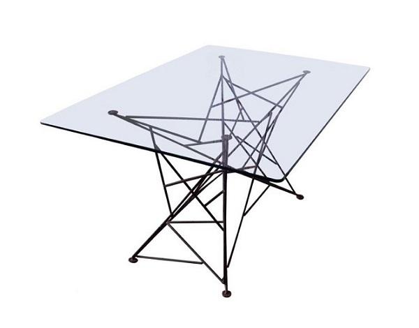 Web metal dining table