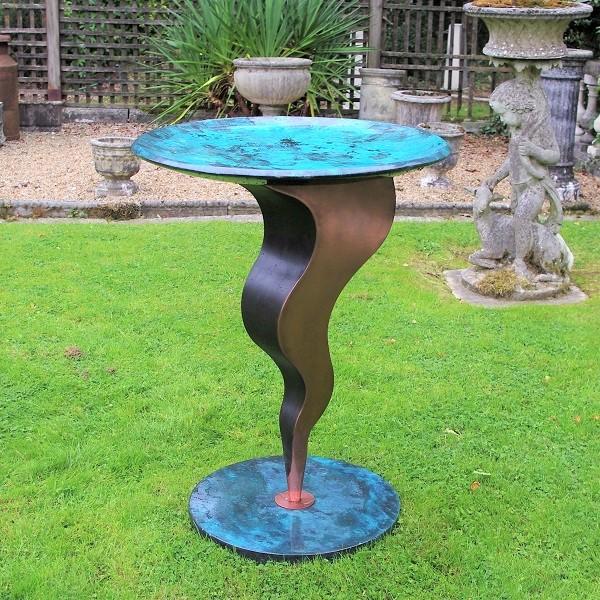 Metal garden bird bath Genie by Chris Bose